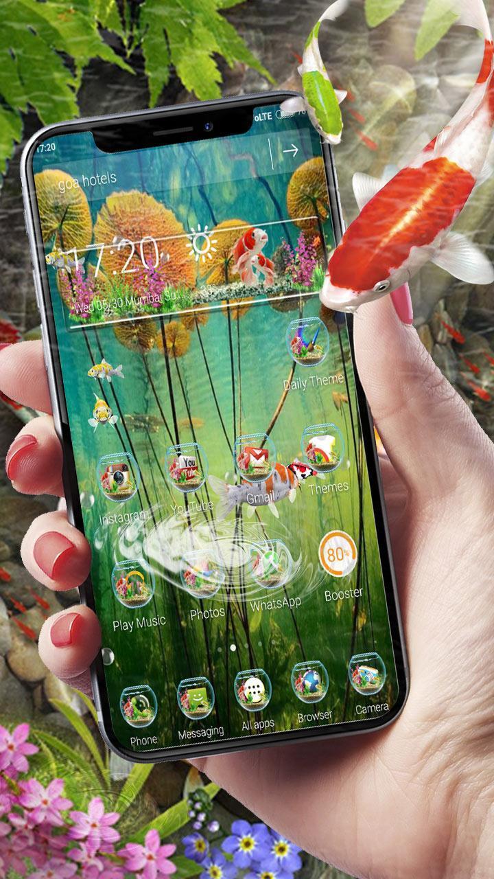 3D Koi Fish Launcher screenshot 3