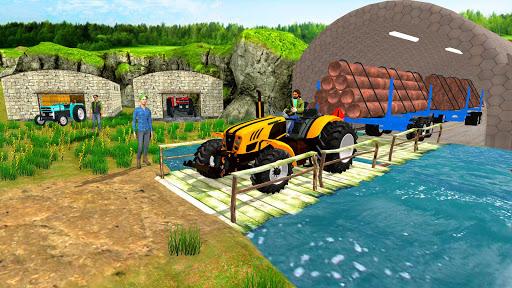 Real Tractor Trolley Cargo Farming Simulation Game screenshot 6