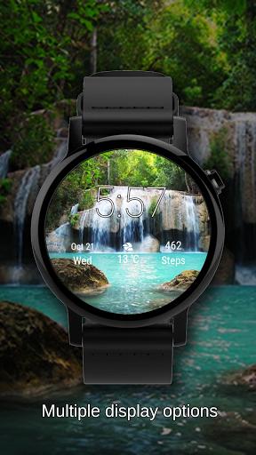 Watch Face Waterfall Wallpaper- Wear OS Smartwatch screenshot 1