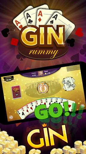 Gin Rummy - Offline Free Card Games 1 تصوير الشاشة