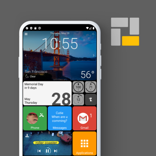 Square Home - Launcher : Windows style أيقونة