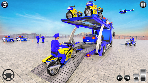 Police Bike Transport Truck screenshot 8