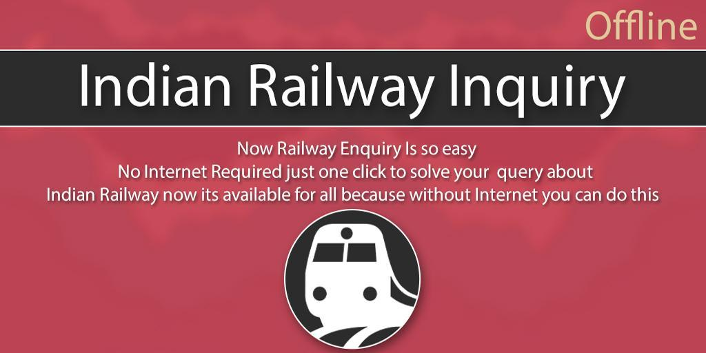 Indian Railway Enquiry Offline - Railway Timetable screenshot 1