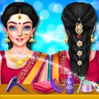 Indian Wedding Hair Do Designs: Girls Hair Salon on 9Apps