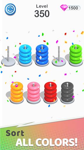 Color Sort Puzzle: Color Hoop Stack Puzzle screenshot 2