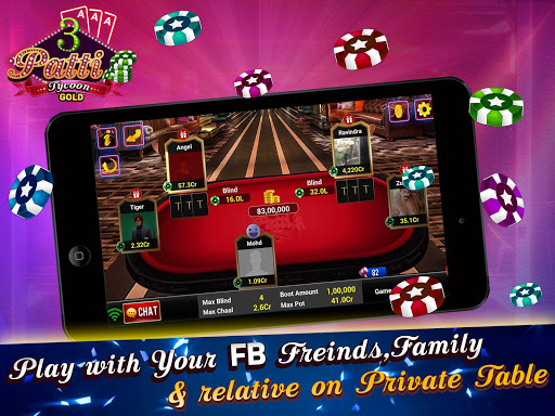 Teen Patti Tycoon Gold Indian Poker 3 تصوير الشاشة