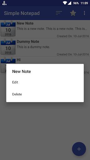 Simple Notepad 1 تصوير الشاشة