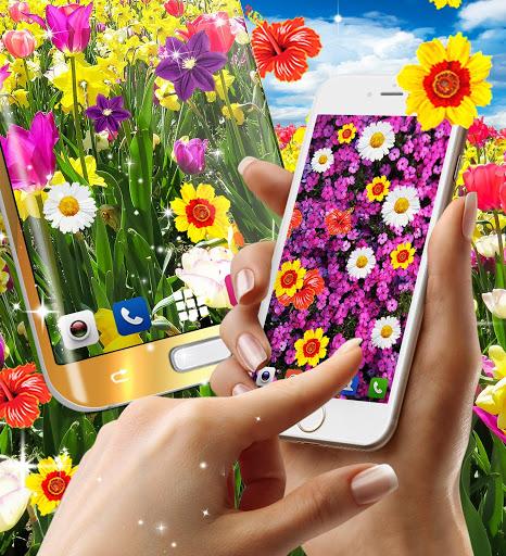 Flowers live wallpaper 7 تصوير الشاشة