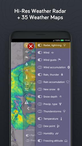 Windy.com: pronóstico de vientos, olas y huracanes screenshot 5