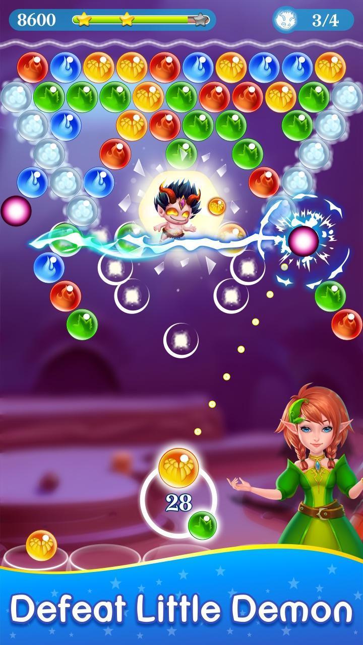 Monster Pet Pop Bubble Shooter 4 تصوير الشاشة