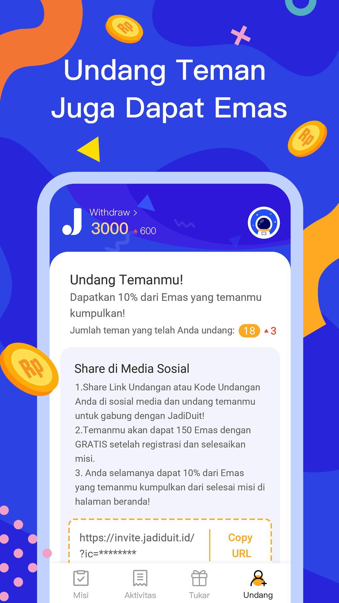 JadiDuit - Free dapat uang, data dan gift screenshot 5