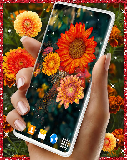 Autumn Flowers 4K Live Wallpaper ❤️ Forest Themes скриншот 2