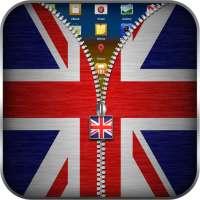 علم المملكة المتحدة قفل زيبر on 9Apps