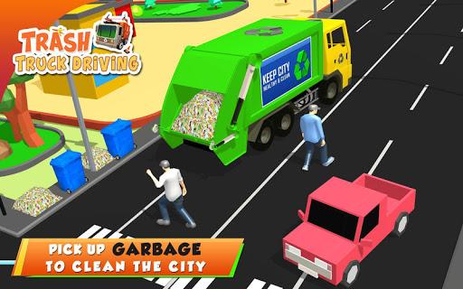 Urban Garbage Truck Driving - Waste Transporter screenshot 16