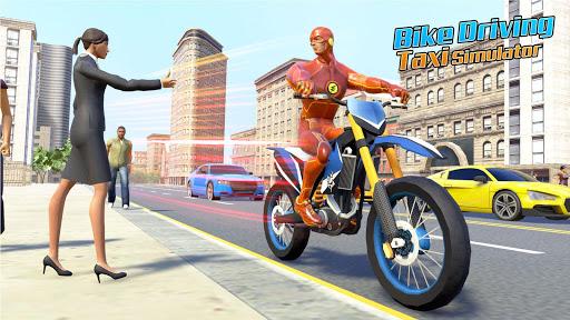 Superhero Bike Taxi Simulator: New Bike Games Free screenshot 4