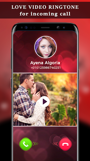 Love Video Ringtone for Incoming Call 1 تصوير الشاشة