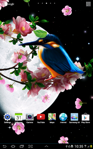 Sakura and Bird Live Wallpaper screenshot 8