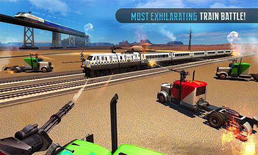 Police Train Shooter Gunship Attack : Train Games screenshot 3
