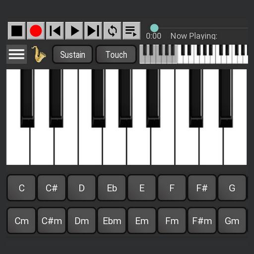 السلاسل ولوحه المفاتيح البيانو أيقونة