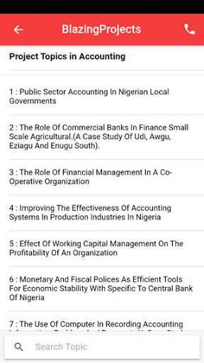 Project topics app - final year project topics app screenshot 2