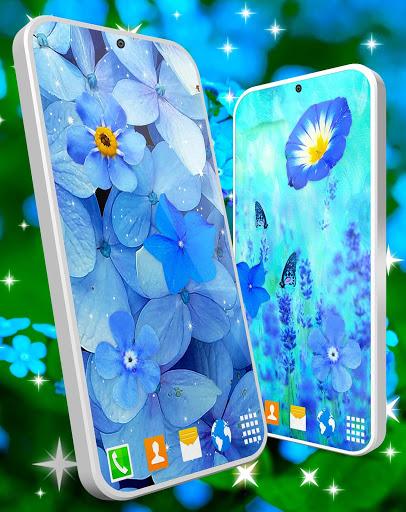 Blue Flowers Live Wallpaper 🌼 Flower 4K Wallpaper screenshot 4