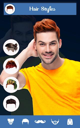 Hairy - Men Hairstyles beard & boys photo editor 1 تصوير الشاشة