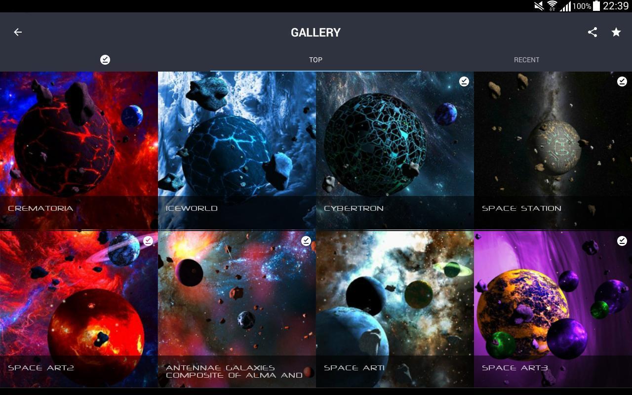 Asteroids 3D live wallpaper 10 تصوير الشاشة