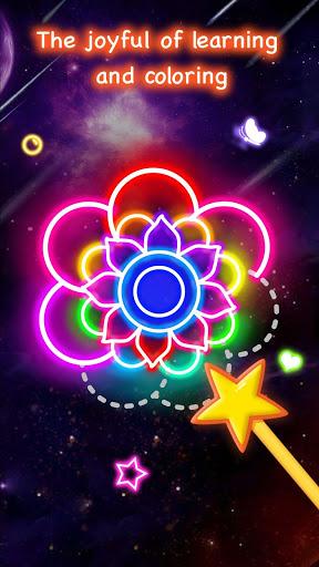 Learn To Draw Glow Flower скриншот 1