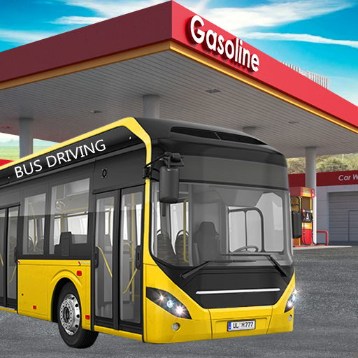 Gas Station Bus Driving Games - New Games 2020 icon