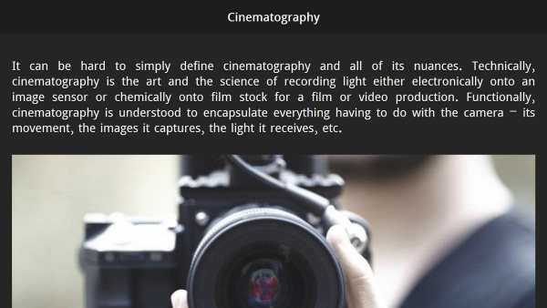 Learn Filmmaking screenshot 6