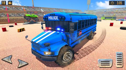 US Police Bus Demolition Derby Crash Stunts 2021 screenshot 3