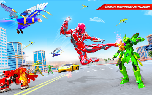 Flying Police Eagle Bike Robot Hero: Robot Games screenshot 12