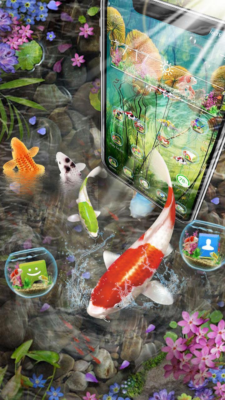 3D Koi Fish Launcher screenshot 2