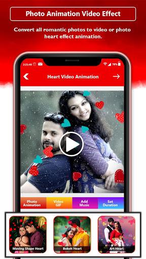 Heart Photo Effect Video Maker With Music screenshot 2