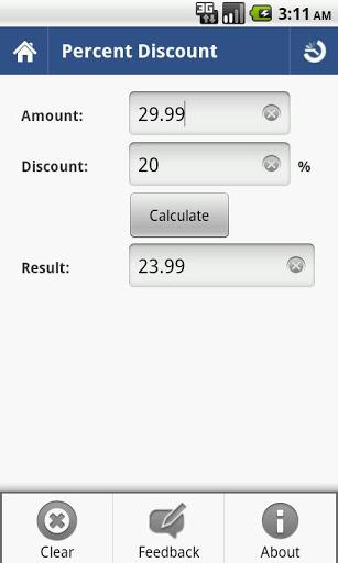 Percent Calculator 4 تصوير الشاشة