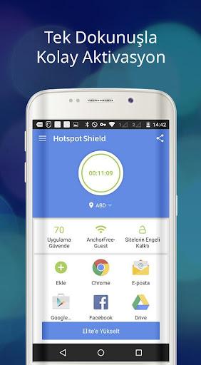 Hotspot Shield Ücretsiz VPN vekil & WiFi Güvenliği screenshot 8