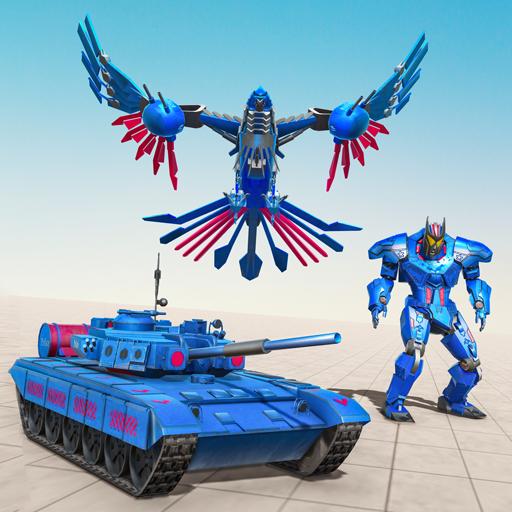 Tank Robot Game 2020 – Police Eagle Robot Car Game icon