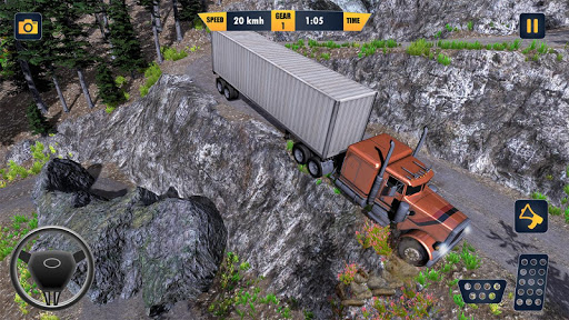American Truck Cargo Car Transporter Driving screenshot 4