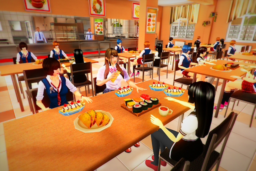 real High School Girl Simulator games स्क्रीनशॉट 5