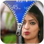 Girl Friend Zipper Lock Screen on 9Apps