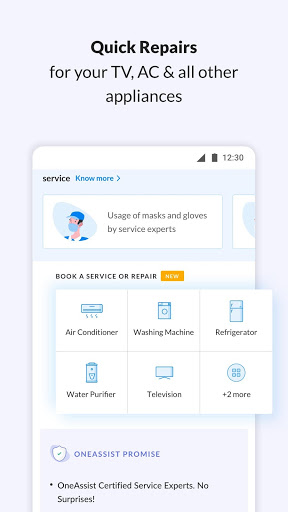 OneAssist- Protect Mobile, Bank Cards & Appliances screenshot 1