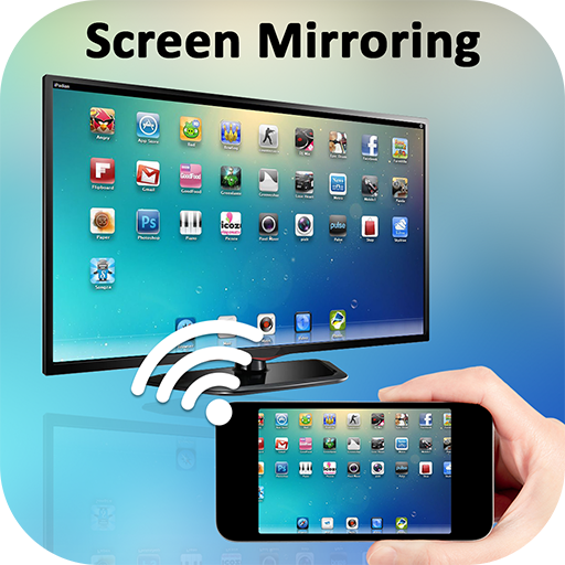 Screen Mirroring with TV : Play Video on TV आइकन