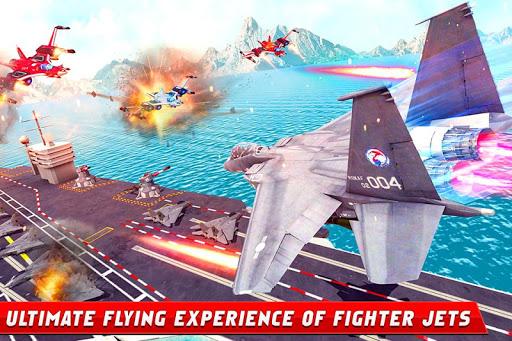 Formula Car Robot Games - Air Jet Robot Transform screenshot 2