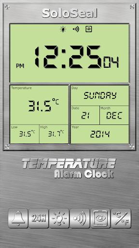 درجة الحرارة منبه 5 تصوير الشاشة