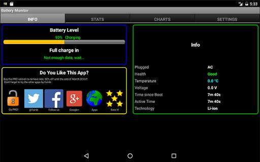 Battery Monitor Widget 8 تصوير الشاشة