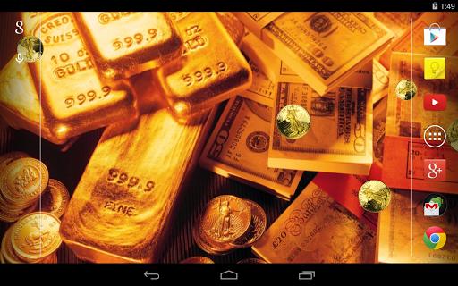 Gold Live Wallpaper 5 تصوير الشاشة