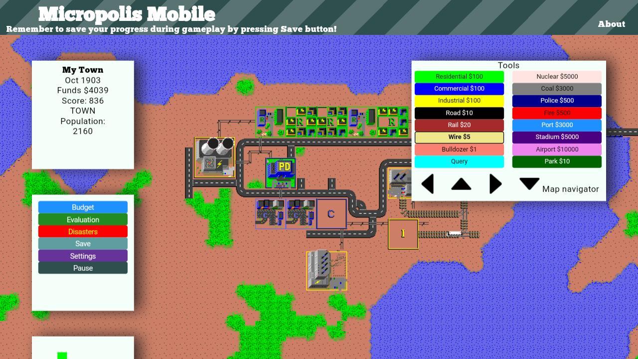 Micropolis Mobile 1 تصوير الشاشة