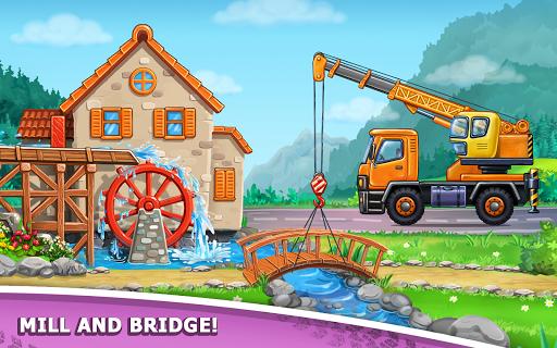 बच्चों के लिए ट्रक गेम - घर की इमारत  कार धोने स्क्रीनशॉट 13