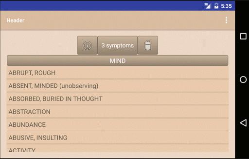 Homoeopathic Repertorium screenshot 6