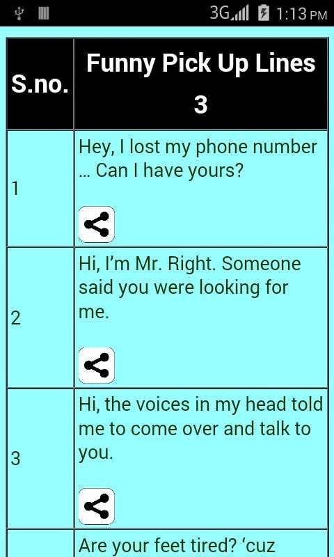 best pick up lines screenshot 3